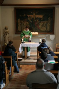 Mass in the chapel